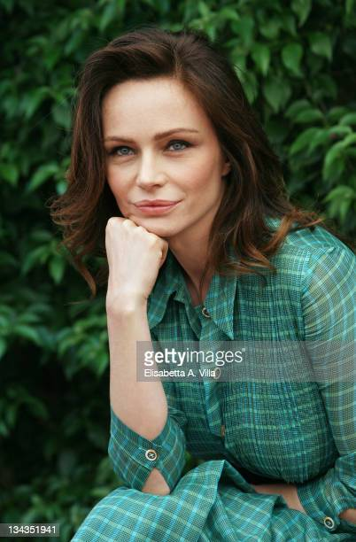 Italian actress Francesca Neri poses for a photocall to promote the movie 'Il Papa Di Giovanna' at L'Antica Pesa Restaurant on June 4 2008 in Rome...
