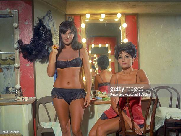 Italian actress Gabriella Giorgelli playing a stripper in the film Maigret a Pigalle Paris 1967
