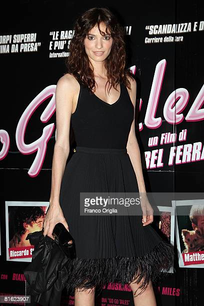 Italian actress Gaia Bermani Amaral attends the Premiere for the upcoming film 'Go Go Tales' at the Adriano Cinema on June 18 2008 in Rome Italy