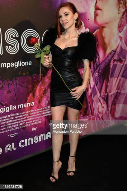 Italian actress Giglia Marra at the preview of the Morrison film at the Cinema Adriano. Rome , May 20, 2021