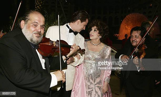 Italian Actress Gina Lollobrigida arrives at the 57th Red Cross Ball on August 5 2005 in Monte Carlo Monaco