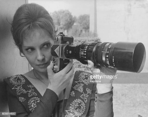 Italian actress Gina Lollobrigida takes up photography during the filming of 'Venere Imperiale' in which she plays Napoleon's sister Paulette Rome...