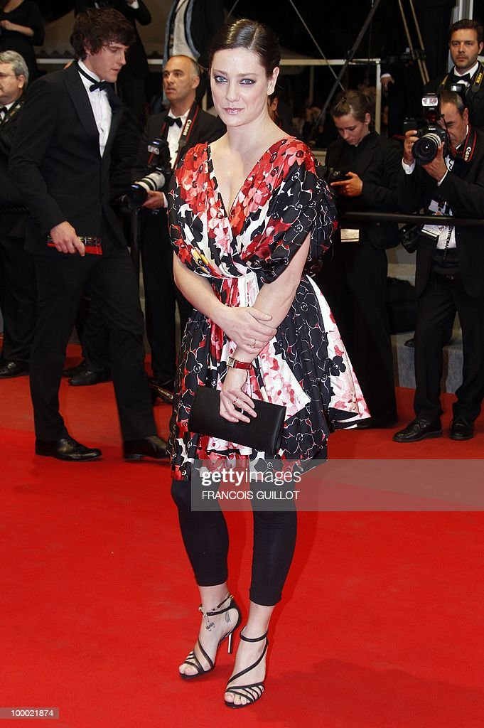 Italian actress Giovanna Mezzogiorno arrives for the screening of 'La Nostra Vita' (Our Life) presented in competition at the 63rd Cannes Film Festival on May 20, 2010 in Cannes.