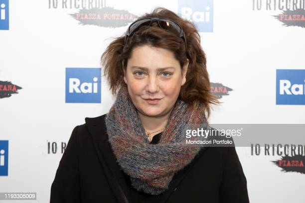 Italian actress Giovanna Mezzogiorno during the photocall of presentation of the film Io ricordo Piazza Fontana broadcast on Raiuno Milan December...