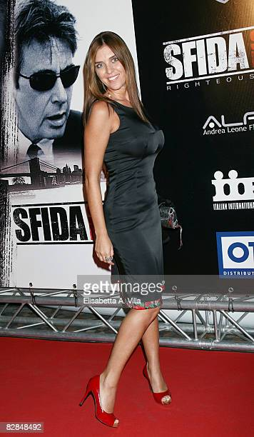 Italian actress Gisella Marengo attends the 'Righteous Kill' premiere at the Warner Cinema Moderno on September 16 2008 in Rome Italy