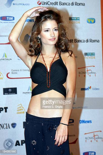 Italian actress Giulia Elettra Gorietti attends the fifth day of Roma Fiction Fest 2008 on July 11 2008 in Rome Italy