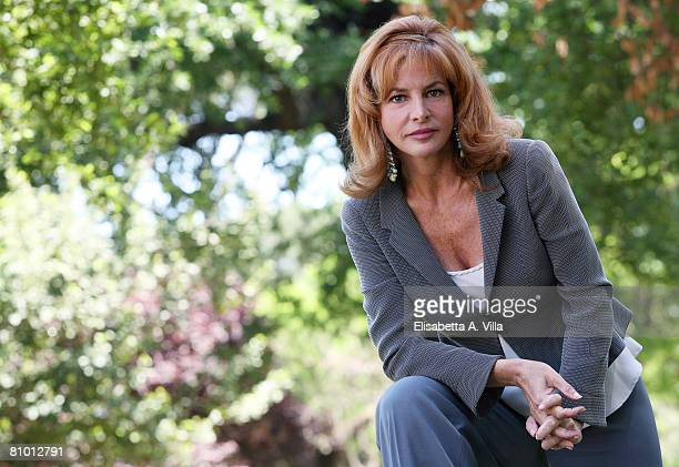 "Italian actress Giuliana De Sio attends a photo call promoting Italian TV Film 'Mogli A Pezzi"" held at Casa del Cinema on May 7, 2008 in Rome, Italy."