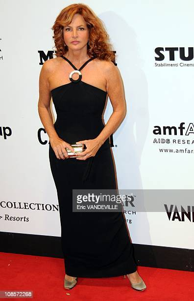 Italian actress Giuliana De Sio . Second annual Cinema Against Aids Rome event at the Galleria Borghese, in Rome, to benefit amfAR, the foundation...