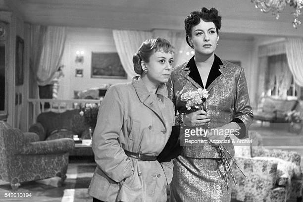 Italian actress Giulietta Masina and GreekItalian actress Yvonne Sanson in The Shameless Sex 1952