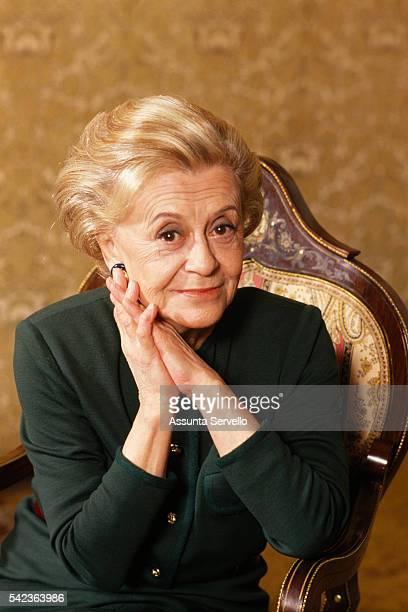 Italian actress Giulietta Masina wife and muse of director and screenwriter Federico Fellini