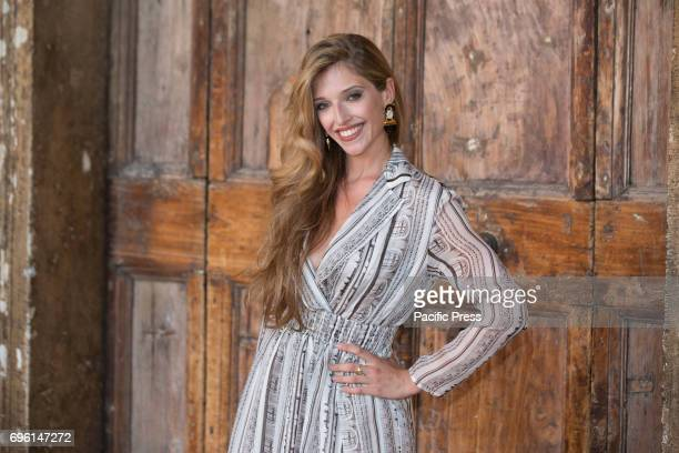 Italian actress Guenda Goria during the photocall of the 2017 Globe Awards ceremony evening in the Villa Medici Gardens
