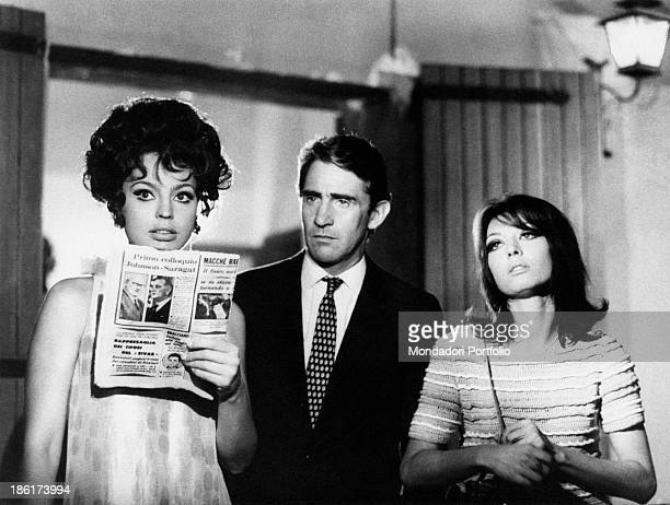 Italian actress Ira von Fuerstenberg Italian actor and comedian Walter Chiari and Italian actress and singer Alida Chelli acting in the TV miniseries...
