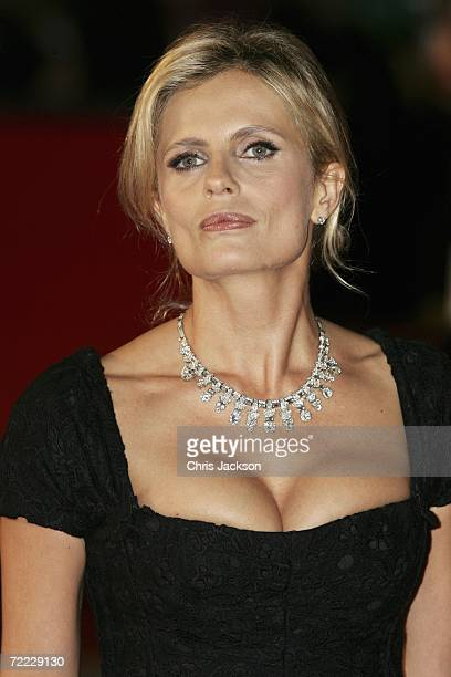 Italian actress Isabella Ferrari attends a red carpet for the Patricia McQueeney Award on the eighth day of Rome Film Festival on October 20 2006 in...