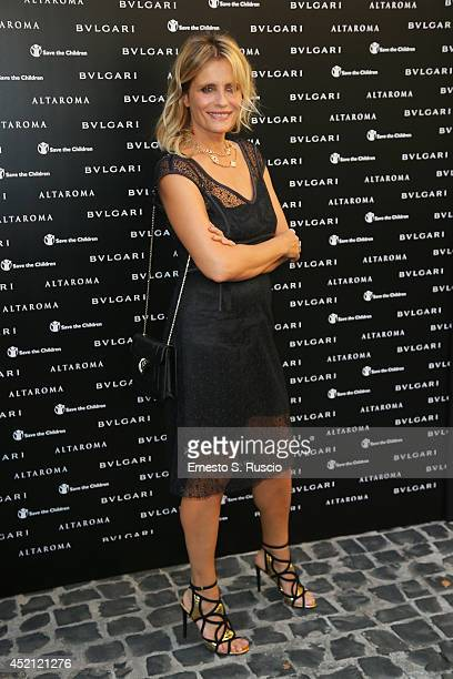 Italian actress Isabella Ferrari attends the 'Isabella Ferrari Forma/Luce' cocktail party at Horti Sallustiani on July 13 2014 in Rome Italy
