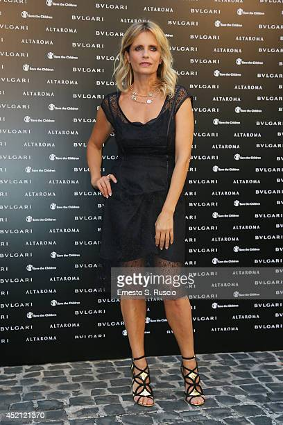 Italian actress Isabella Ferrari attends the 'Isabella Ferrari Forma/Luce' cocktail party at Horti Sallustiani on July 13, 2014 in Rome, Italy.