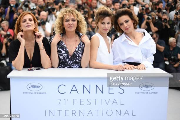 Italian actress Isabella Ferrari Italian film director Valeria Golino Italian actress Valentina Cervi and Italian actress Jasmine Trinca pose on May...