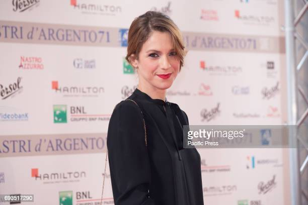 Italian actress Isabella Ragonese during photocall of the announcement of nominations to Nastri D'Argento 2017