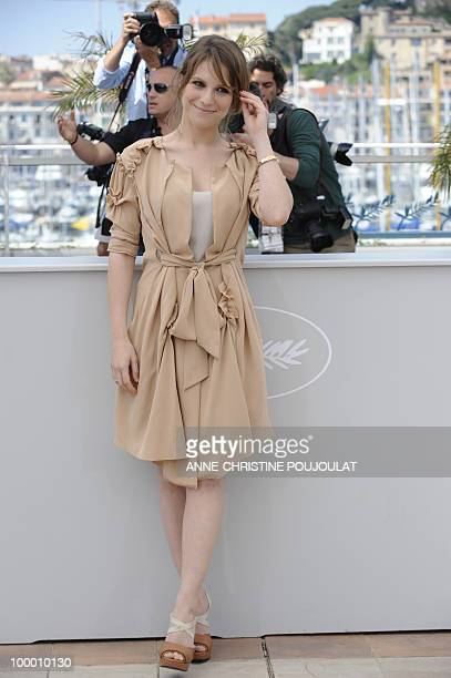 Italian actress Isabella Ragonese poses during the photocall of 'La Nostra Vita' presented in competition at the 63rd Cannes Film Festival on May 20...