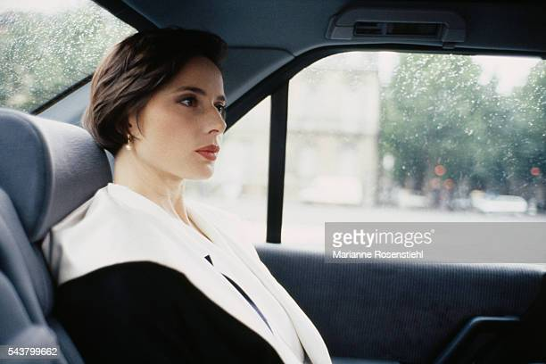 Italian actress Isabella Rossellini ambassador for Lancome presents the new Lancome perfume