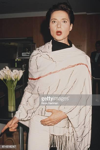 Italian actress Isabella Rossellini at Bloomingdales New York City 1999