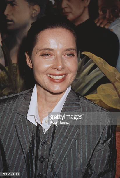 Italian actress Isabella Rossellini attends a party at Planet Hollywood for the Dian Fossey Gorilla Fund, New York City, USA, 1996.