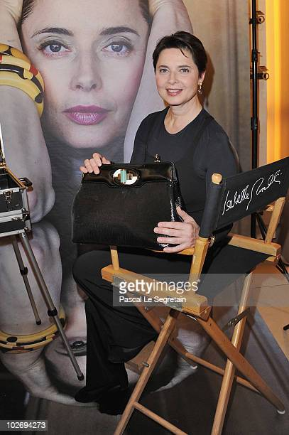 Italian actress Isabella Rossellini attends the 'Isabella Rossellini' Bulgari Bag Launch Cocktail Party at Boutique Bulgari on July 7 2010 in Paris...