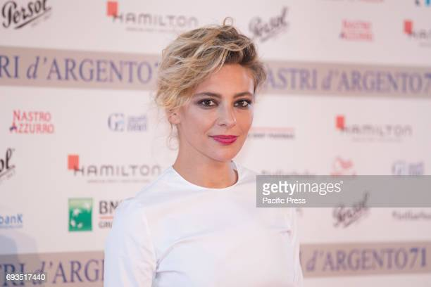 Italian actress Jasmine Trinca during photocall of the announcement of nominations to Nastri D'Argento 2017