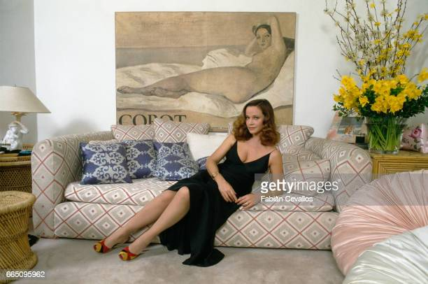 Italian Actress Laura Antonelli at Home in Rome