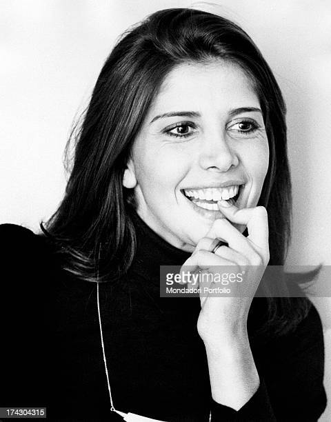 Italian actress Laura Belli smiling 1974