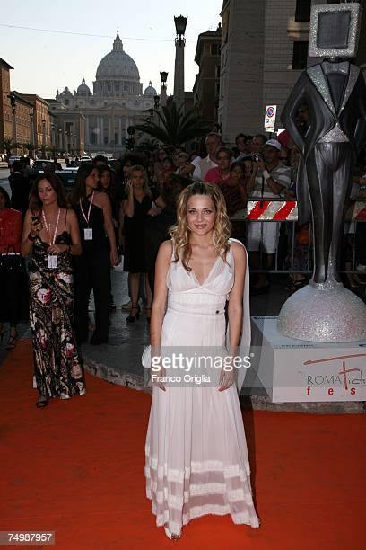 Italian actress Laura Chiatti arrives at the Auditorium della Conciliazione for the opening day of the RomaFictionFest July 2 2007 in Rome Italy