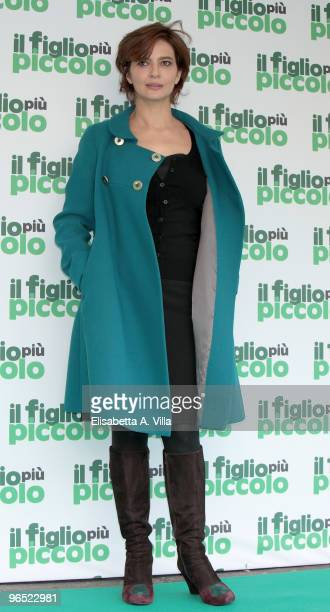 Italian actress Laura Morante attends 'Il Figlio Piu Piccolo' photocall at Embassy Cinema on February 9 2010 in Rome Italy