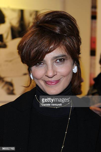 Italian actress Laura Morante attends the premiere's coccktail party for the film 'Il Figlio Piu Piccolo' at library Renzo Renzi on February 9 2010...