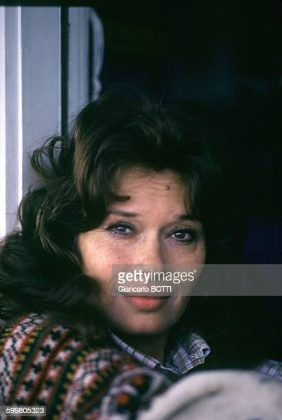 Italian Actress Lea Massari In Paris France Circa 1970