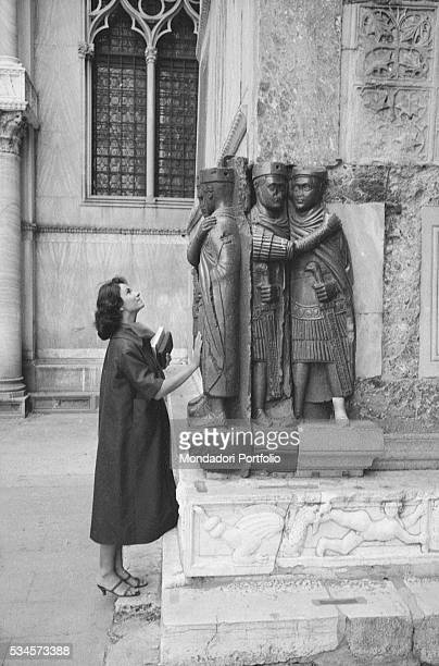 Italian actress Lea Massari Lea Massari sightseeing in Venice XVIII Venice International Film Festival Venice 1957