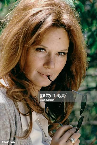 Italian actress Lea Massari on the set of La prima notte di quiete written and directed by Valerio Zurlini