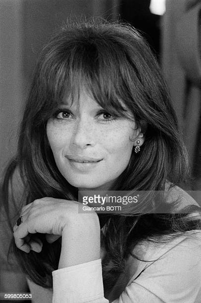Italian actress Lea Massari on the set of the movie 'Le Fils' directed by Pierre GranierDeferre in France in 1972