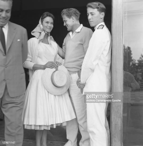 Italian actress Lea Massari with De Santis Venice 1957