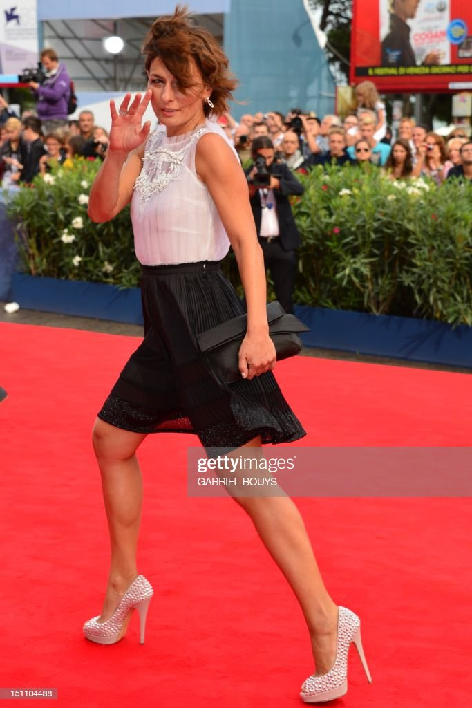 Italian actress Lidia Vitale arrives for the screening of 'E' stato il figlio' during the 69th Venice Film Festival on September 1 , 2012 at Venice Lido. 'E' stato il figlio' is competing for the Golden Lion in the Venezia 69 section of the festival.