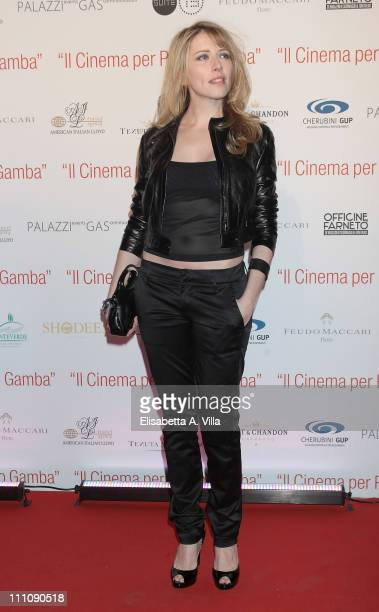 Italian actress Loredana Cannata attends Il Cinema Per Pietro Gamba gala charity event to support Asociacion Humanitaria Doctor Pietro Gamba at...