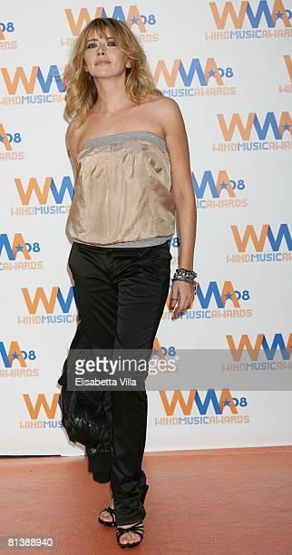 Italian actress Loredana Cannata attends the 2008 Wind Music Awards at Villa Giulia on June 3 2008 in Rome Italy