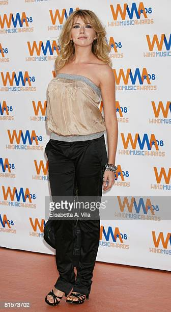 Italian actress Loredana Cannata attends the 2008 Wind Music Awards at Villa Giulia on June 3 2008 in Rome Italy