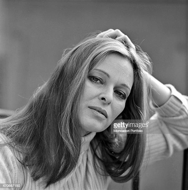 """""""Italian actress Lucia Bos, born Lucia Borloni, is shot in a close up with a sensual gaze; her beauty was noticed thanks to the beauty pageant Miss..."""