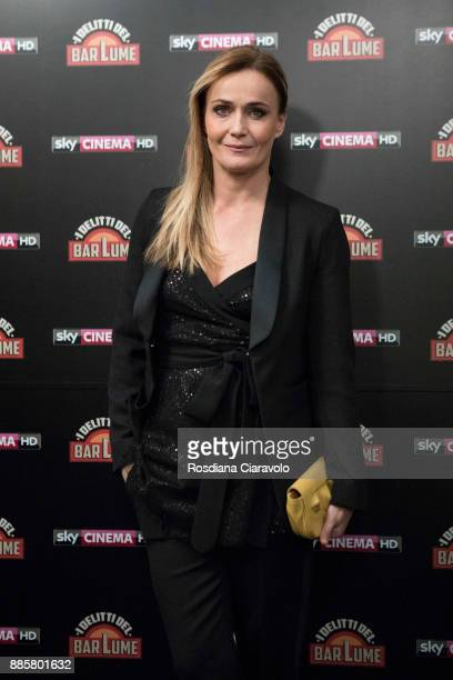 Italian actress Lucia Mascino attends 'I delitti del BarLume' photocall during Noir In Festival on December 4 2017 in Milan Italy