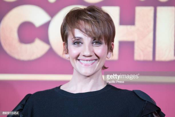 Italian actress Lucia Ocone during the photocall of the Italian movie Poveri Ma Ricchissimi directed by Fausto Brizzi