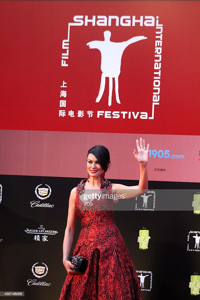 Italian Actress Maria Grazia Cucinotta Arrives For The Red Carpet Of