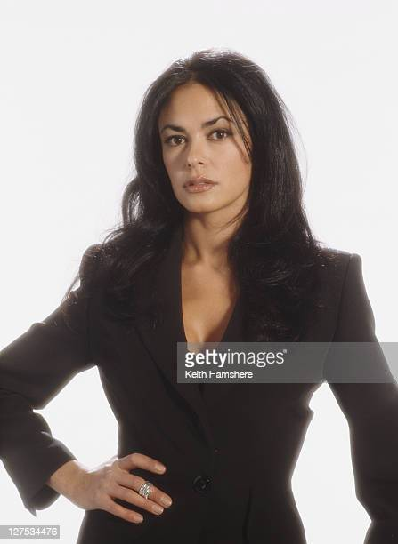 Italian actress Maria Grazia Cucinotta as assassin Giulietta da Vinci in a publicity still for the James Bond film 'The World Is Not Enough' 1999