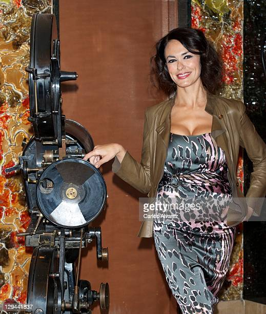 Italian actress Maria Grazia Cucinotta attends 'Transgression' photocall at Palafox cinema on October 17 2011 in Madrid Spain