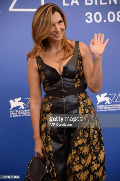 Italian actress Maria Pia attends the photocall of the movie 'Gatta Cenerentola' presented in the 'Orizzonti' selection at the 74th Venice Film...