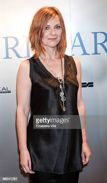 Italian actress Marina Massironi attends the the 2009 Nastri D'Argento Nominations dinner party at Villa Medici on May 28 2009 in Rome Italy