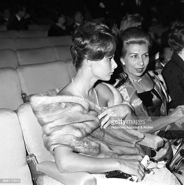 Italian actress Marisa Allasio and her mother Lucia attending the opening night of Walter Chiari's variety show at Sistina Theatre in Rome Rome 1959
